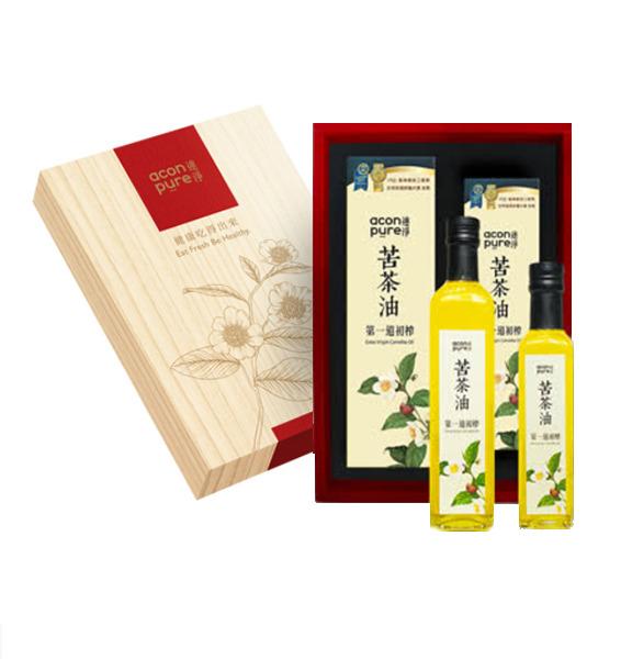 連淨苦茶油禮盒組(500mlX1+250mlX1)